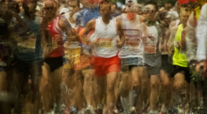 Marathoners - an example of photo impressionism using in camera multiple exposures